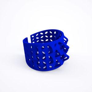 bracelet pétale bleu