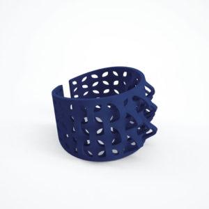 bracelet pétale bleu foncé