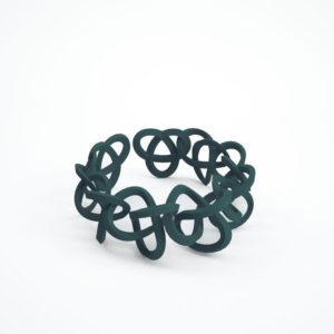 bracelet torsale vert foncé