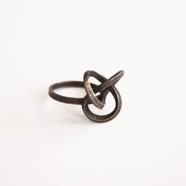 bague torsale metal bronze carré